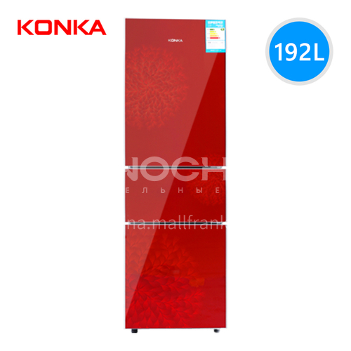 Konka  Energy-saving small refrigerator three-door refrigerator red version 192 liters DQ000161
