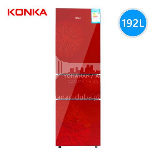 Konka  Energy-saving small refrigerator three-door refrigerator red version 192 liters DQ000161