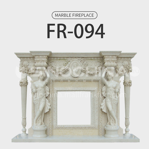 Natural stone European luxury style fireplace FR-094