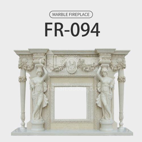 Natural stone European luxury style fireplace FR-094