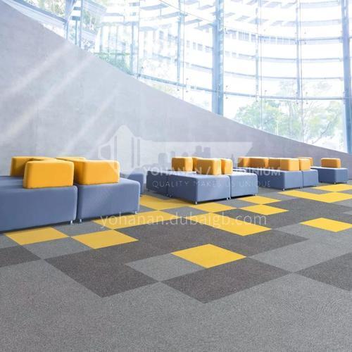 50*50cm Nylon+PVC Fire Resistant Office Carpet 135F