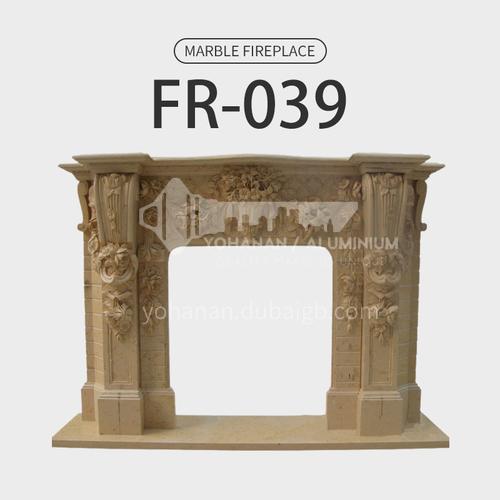 Natural stone European luxury style fireplace FR-039