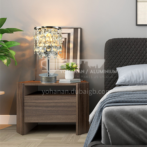 American modern Nordic crystal lamp simple creative living room bedroom fashion table lamp-GD-0355