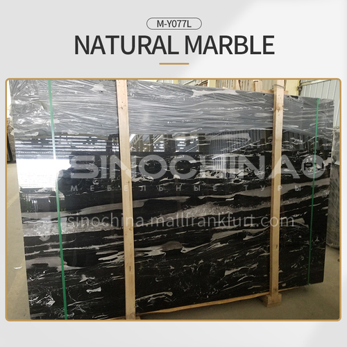 Hot selling modern natural black marble for floor and wall M-Y077L