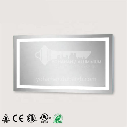Wall-hung   Multi-function    Large Size    Defogger    LED Bathroom Mirror    With Bluetooth Time Display