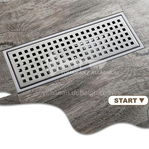 304 silver stainless steel rectangular floor drain 30*11