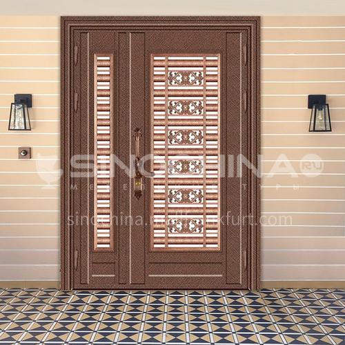 304 stainless steel door red bronze splicing son-mother door entrance door
