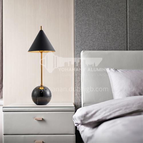 European modern creative hardware marble living room table lamp art bedside bedroom study table lamp YDH-8199
