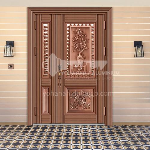 304 stainless steel door red bronze brushed picture and mother door aluminum carved door