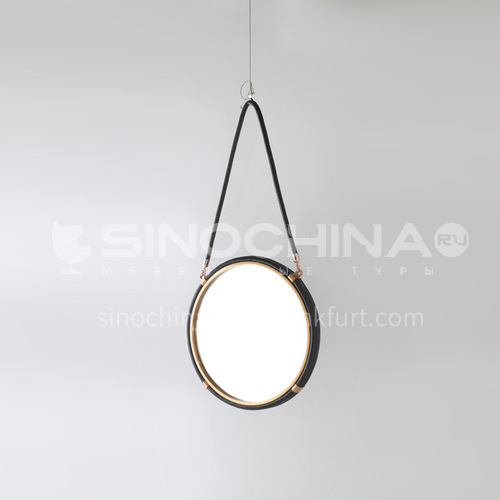 Bathroom hanging mirror decoration, wall-mounted mirror, home decoration, soft furnishing furniture accessories, club house, villa crafts FX-E0005
