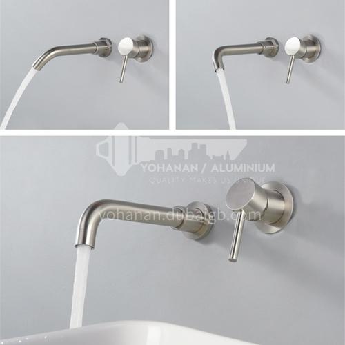 Bathroom wash basin silver  built-in faucet AM1002S1