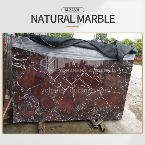 Modern simple red natural marble M-ZA89H