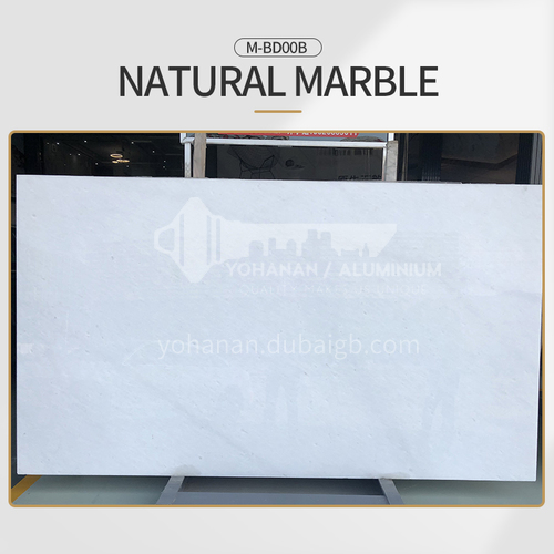 Modern simple white natural marble M-BD00B