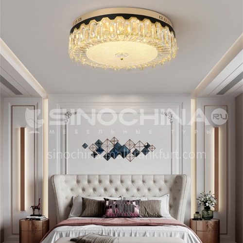 LED bedroom ceiling lamp luxury round crystal lamp romantic bedroom lamp Nordic modern lamp GD-1260