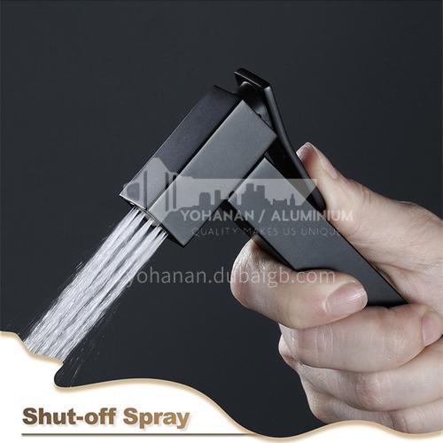 Matt black pure copper spray gun head HI09052