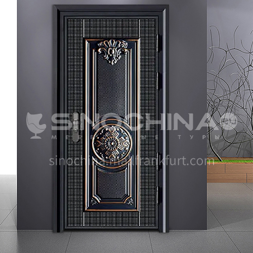 Inventory door, entrance door, outdoor door, classical style cast aluminum door, anti-prizing anti-rust safety door FPL-A007