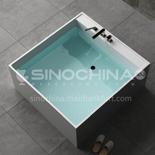 Artificial stone   square shape   freestanding   artificial stone  bathtub