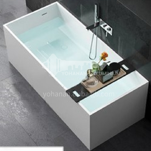 Artificial stone square freestanding artificial stone bathtub
