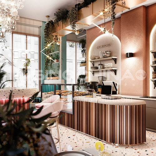 Restaurant - 200㎡ Moscow restaurant design BR1042