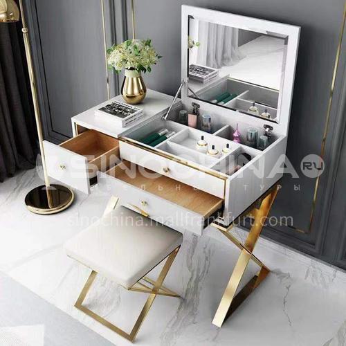 NGX-1108- Light luxury simple style, tempered glass, metal tripod, light luxury dressing table