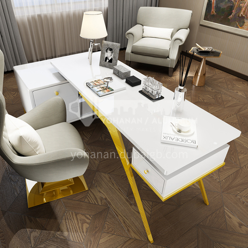 NGX-810 Study Room Light Luxury Metal Frame Metal Tripod Desk