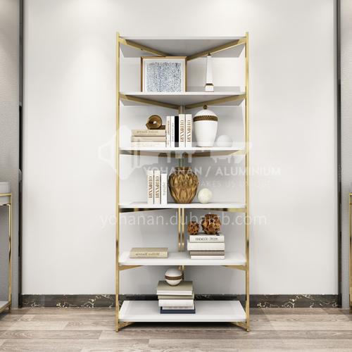 NGX- Study Room Light Luxury Metal Frame Bookshelf Fashion Atmosphere Bookshelf
