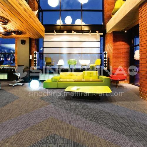 50*50cm Nylon+Asphalt base Fire Resistant Office Carpet 216F