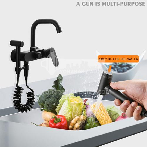 Adjustable black washing cabinets with spray gun LW-Qq-03-3