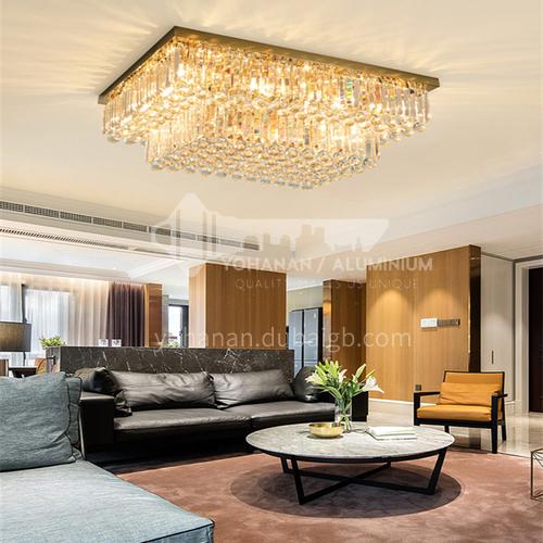 Living room lamp ceiling lamp modern rectangular crystal lamp living room dining room lamp GD-1278