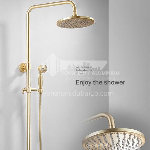 Bathroom gold restore ancient ways copper 3 function shower head  LW-QQ026