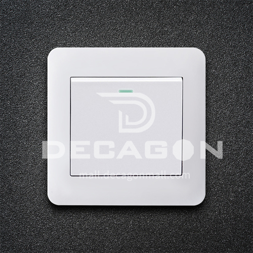 86 type PC material household engineering hotel switch socket-XM-TT-white