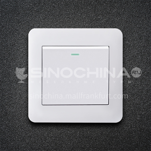 86 type PC material household engineering hotel switch socket-XM-TT-white