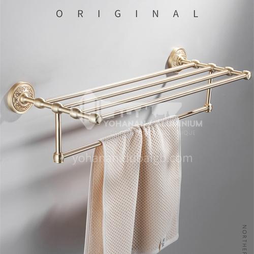 Bathroom accessories golden color single towel rack pure copper  LW-QQ023