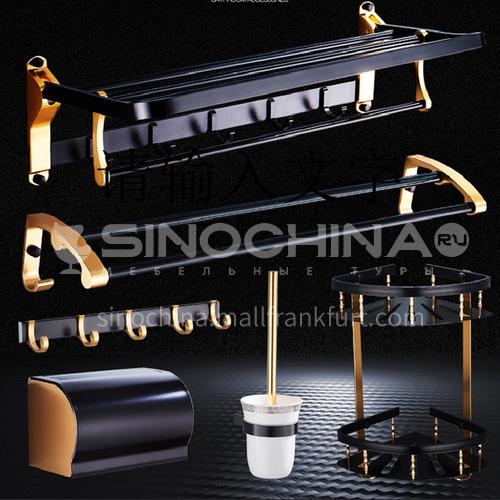 Bathroom accessories set of five black LW-AC