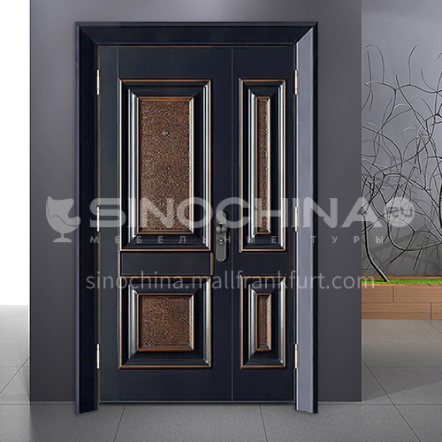 European style high-grade cast aluminum explosion-proof bullet-proof door home swing door mother and child door