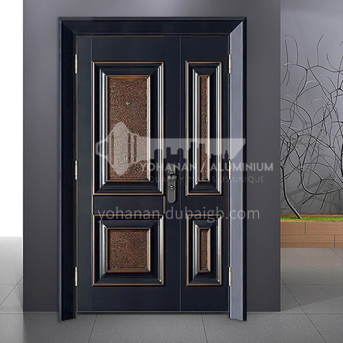 European style high-grade cast aluminum explosion-proof bullet-proof door home swing door mother and child door