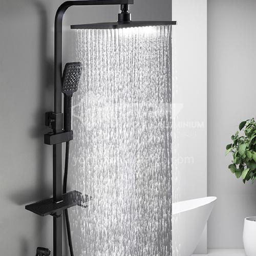 Black color three function shower head LW-Qq