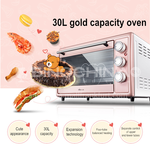 Bear electric oven household mini baking cake bread baking 30 liters large capacity automatic multi-function DQ000517
