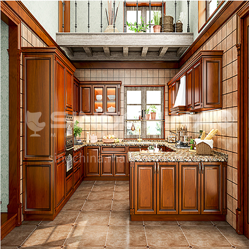 American style PVC with HDF classical kitchen-GK-234