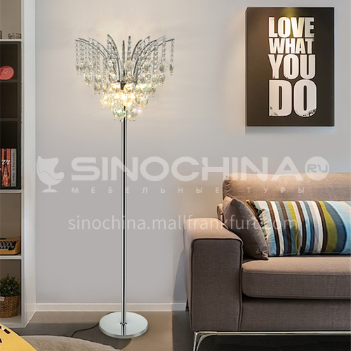 Modern crystal floor lamp living room sofa corner corner lamp-GD-0504