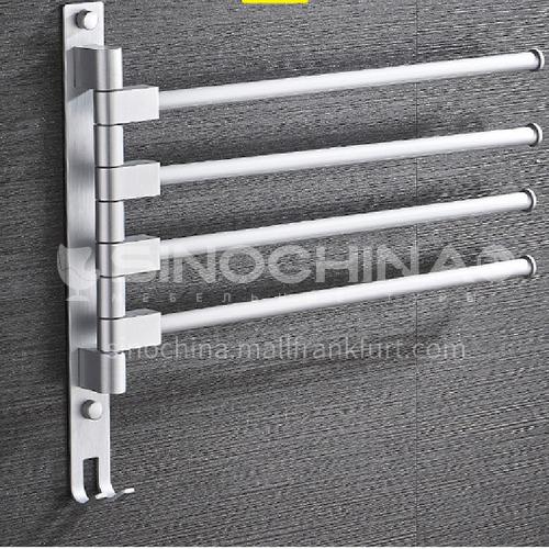 Bathroom multi-function rotating towel rack aluminum five rods LW-QQ017