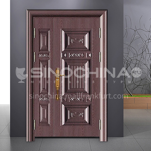 Hot sale high quality cast aluminum door explosion-proof bulletproof safety steel door entrance door