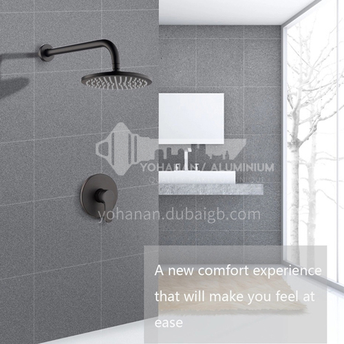 Black hot and cold wall-mounted concealed shower set FG1915B1