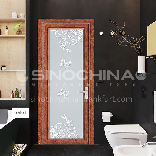 Hot Sale 1.4mm Aluminum Bathroom Decoration Glass Door double tempered frosted strong glass door