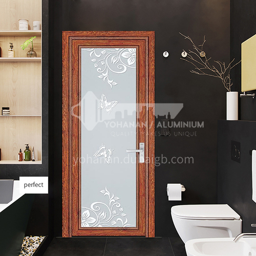 Hot Sale 1.4mm Aluminum Bathroom Decoration Glass Door double tempered frosted strong glass door