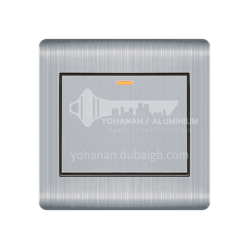 Domestic hotel switch socket silver stainless steel 86 wall engineering concealed switch socket - Stmen -Q3- Stainless steel