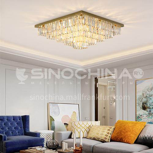 Crystal lamp living room lamp rectangular modern led crystal ceiling lamp GD-1267