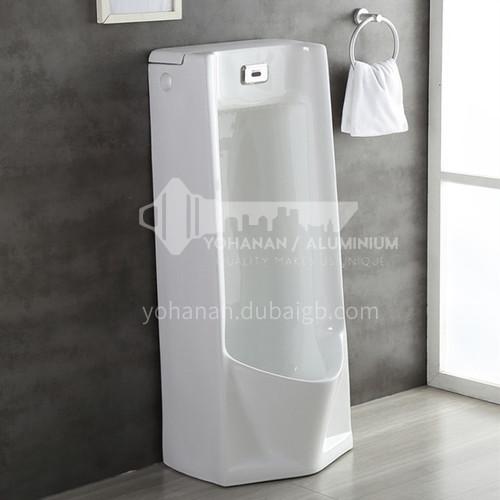 Floor-standing sensor urinal contains sensor