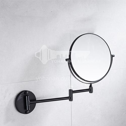 Bathroom copper retractable mirror black makeup mirror jsj-1306B