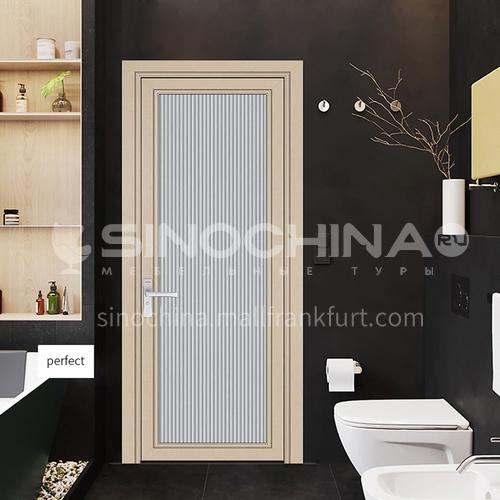 1.4 mm series aluminum casement door  in wave glass design